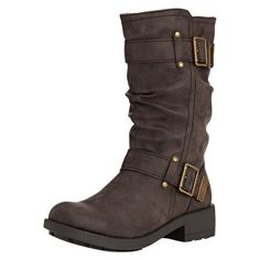 Rocket Dog Trumble, Women's Slouch Boots ($86) ❤ liked on Polyvore featuring shoes, boots, footwear, rocket dog shoes, rocket dog boots, slouchy boots, slouch boots and rocket dog