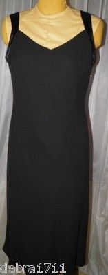 EVAN PICONE DRESS Black 10 polyester lined sleeveless crossover back satin trim