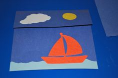 """VBS- """"By the Sea"""" lesson- Jesus Calms the Storm       2 year old center- sorting boats by color        Jesus calms the storm craft. Use a p..."""