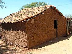 Casa de taipa.Brasil