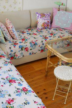 Colourful Floral Corner Sofa