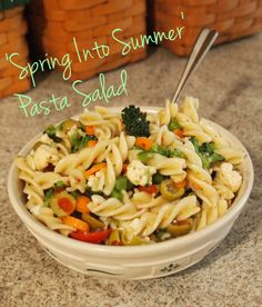 Spring Into Summer Pasta Salad #vegan #yum