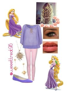 Rapunzel modern outfits. by sweeettreat95 on Polyvore featuring polyvore fashion style Nougat Replay Joe's Jeans ASOS Disney modern clothing