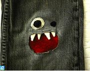 Fun ways to patch kids' pants. There IS a little boy in the family now, will need this. So cute!