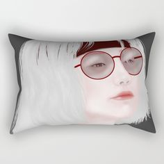 Miss Evie The Witch Rectangular Pillow by yayashi Evie, Round Glass, Witch, Illustrations, Etsy Shop, Art Prints, Pillows, Design, Art Impressions