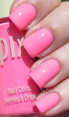Pixi Summer 2013 Collection Swatches Fluoro Flamingo