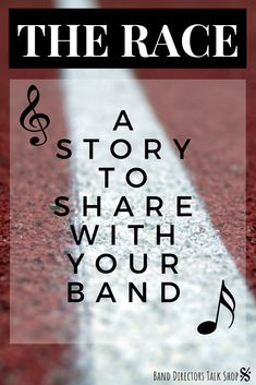 "Band directors, this is a fantastic story that will inspire and motivate your band students to strive toward meeting their goals despite difficult circumstances. ""The Race"" by Dr. ""Dee"" Groberg is a must-read! Singing Lessons, Singing Tips, Music Lessons, Learn Singing, Music Theory Games, Music Classroom, Future Classroom, Music Teachers, Classroom Ideas"