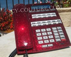 Crystal Bling Home Telephone with Swarovski Crystals by IcyCouture