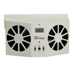 Solar Sun Power Car Auto Air Vent Cool Fan Cooler Ventilation System Radiator Can