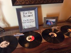 Sign the vinyl records as a guestbook  http://www.unionbluff.com/wedding.cfm