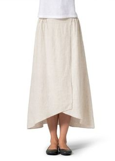 Vivid Linen A-line Long Skirt Miss Me Outfits, Plus Clothing, Types Of Skirts, Skirt Patterns Sewing, Winter Skirt, Winter Outfits For Work, Sewing Clothes, Skirt Outfits, Skirt Fashion