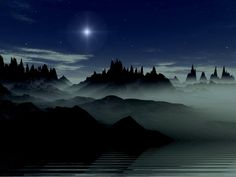 Night Time Wallpaper | This is the hot mountains 4 sky night Wallpaper, Background, Picture ...