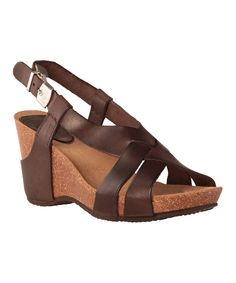 Take a look at this Mocha Coranta Wedge on zulily today!