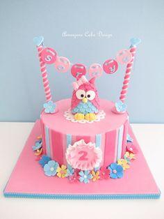 CUTE!! aimee_jane's owl cake