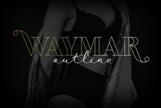 Waymar Outline by NREY on Waymar outline is an modern elegant high-contrast display serif, inspired by the fashion glossy magazines typography It perfectly represents modern & vintage esthetics. FREE THIS WEEK Fashion Packaging, Elegant Invitations, Invitation Fonts, Wedding Invitations, Beautiful Fonts, High Contrast, Premium Fonts, New Fonts, Outline
