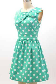 Polka dots and bows!