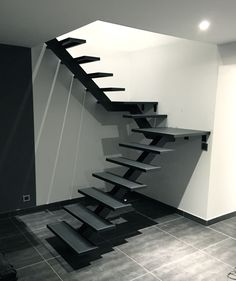 24 Ideas container house design stairs for Flights Of Fancy: 40 Design Options For Your Custom Stairs . House Staircase, Wood Staircase, Home Stairs Design, Interior Stairs, Escalier Design, Building Stairs, Steel Stairs, Modern Stairs, Floating Stairs