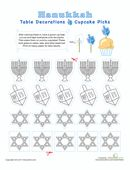 Celebrate Hanukkah by making these cute cutout cupcake decorations. A great weekend or after-school activity!