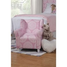 HomePop Kids' Pink Medallion Print Chair | Overstock.com Shopping - The Best Deals on Kids' Chairs