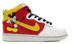 official photos ddc2e 3f139 Nike Mickey Mouse Dunks High Tops Shoes For Adults Men Toddlers Nike Tennis  Shoes, Nike