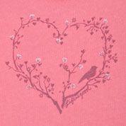Life is Good brand sweet pink birdie heart Tshirt