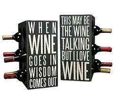 Primitives by Kathy Box Sign Wine Rack
