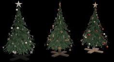 Recolors of Bienchen's Christmas tree and lights. Bienchen's  meshes are included. DOWNLOAD