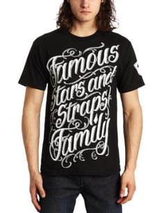 Famous Stars and Straps Men's Script Stack Tee