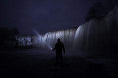 lightpainting a waterfall - though it seems like luke sky-walker with laser sword it's me painting with flashlight. light-painting has become to me…