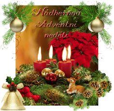 Přání adventní « Rubrika | OBRÁZKY PRO VÁS Merry Christmas Gif, Christmas Wreaths, Advent, Santa, Table Decorations, Holiday Decor, Home Decor, Christmas, Decoration Home