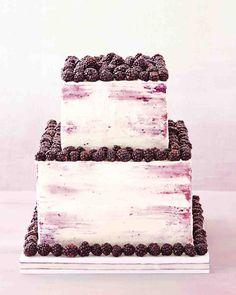 Martha Stewart Blackberry Wedding Cake