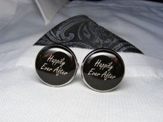 Happily Ever After Cufflinks  These cuff links by UpscaleTrendz, $39.00