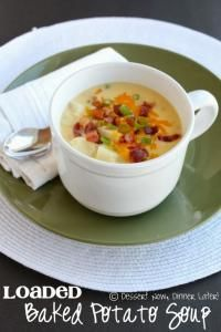 The BEST Loaded Baked Potato Soup on MyRecipeMagic.com #soup #baked #potato #loaded