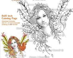 A Fairies Hat Fairy Tangles Printable Coloring Sheets for