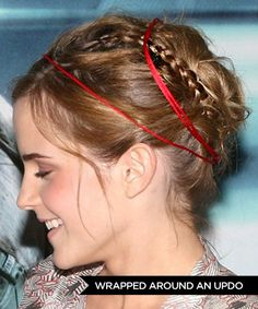 Ways to Wear Hair Ribbons  --  Wrapped Around an Updo