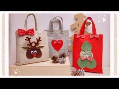 DIY cucito creativo! Tutorial Sacchetti per neonato, asilo, portatutto - YouTube Christmas Bags, Christmas Items, Homemade Christmas, Christmas Crafts, Christmas Decorations, Christmas Ornaments, Holiday Decor, Sewing Patterns For Kids, Sewing For Kids