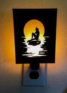 Little Mermaid inspired Night Light by PracPerfCrafts on Etsy