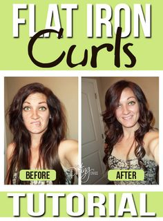 How to curl your hair with a flat iron!