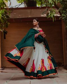 Have any of you'll checked out creation The label has everything! Bridal Lehengas navratri Lehengas such unique designs so many good options and very different from regular stuff you normally is part of Choli dress - Garba Dress, Navratri Dress, Lehnga Dress, Indian Lehenga, Lehenga Choli, Anarkali, Garba Chaniya Choli, Cotton Lehenga, Silk Dupatta