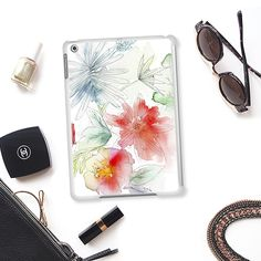 Tropical garden - Classic Snap Case ipad #watercolours, #iphonecase #flowers #tech, #tropical #casetify #iphonecase #artistic