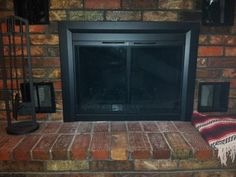 glass fireplace hearth pleasant black door easton pin