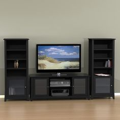 Tuxedo Entertainment Center with Curio Cabinet, for TVs up to 60""