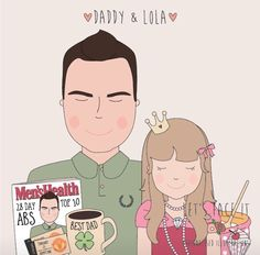Father and daughter xxx Best Dad, Daddy, Father, Abs, Family Guy, Daughter, Illustration, Fictional Characters, Design