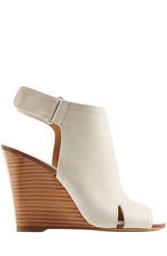 Open Toe Leather Wedges detail 1