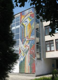 CCCP. Soviet mosaic in Lviv, the largest city in western Ukraine and the seventh-largest city in the country overall, with a population of around 728,350 as of 2016. Lviv is one of the main cultural centres of Ukraine.