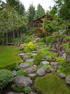 Amazing modern rock garden ideas for backyard 29 beautiful front yard rock garden landscaping ideas Landscaping With Rocks, Front Yard Landscaping, Landscaping Ideas, Natural Landscaping, Stone Landscaping, Decorative Rock Landscaping, Decorative Rocks, Hydrangea Landscaping, Inexpensive Landscaping