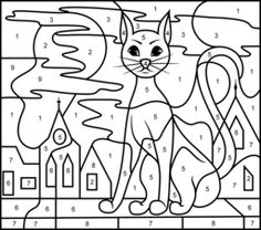 Black Cat - Online Color by Number Page - Hard