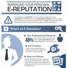 Your personal #OnlineReputation is important!