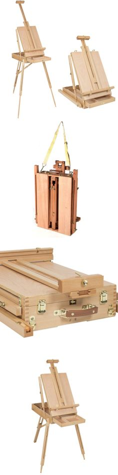 Easels 41204: New Oil Painting Easel Sketch Box Portable Folding Durable Artist Tripod Wooden -> BUY IT NOW ONLY: $43.59 on eBay!