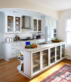 Opening A Galley Kitchen Up opening a wall up in a galley kitchen design ideas, pictures